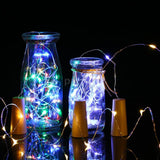 LED Copper Wire Fairy String Light Warm White Twistable Bendable Foldable Bottle Stopper Atmosphere Lamp IP65 Water Resistance for Christmas Xmas Holiday Festival DIY Home Party Decoration Present Gift ( Batteries Are Not Included)
