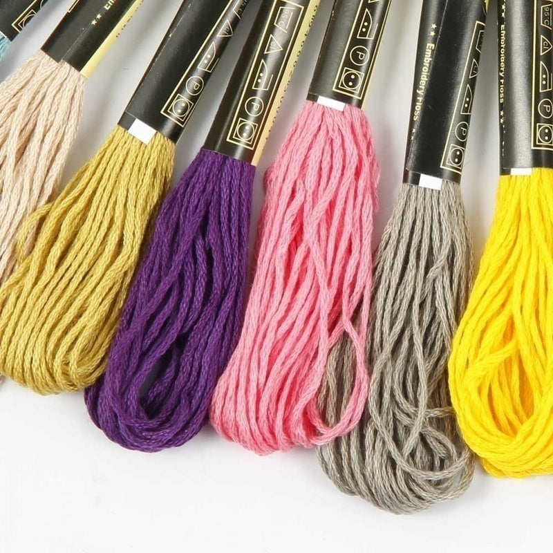 200/120/100/50 Colors Cotton DMC Cross Floss Stitch Thread Embroidery Sewing Skeins Multi Colors