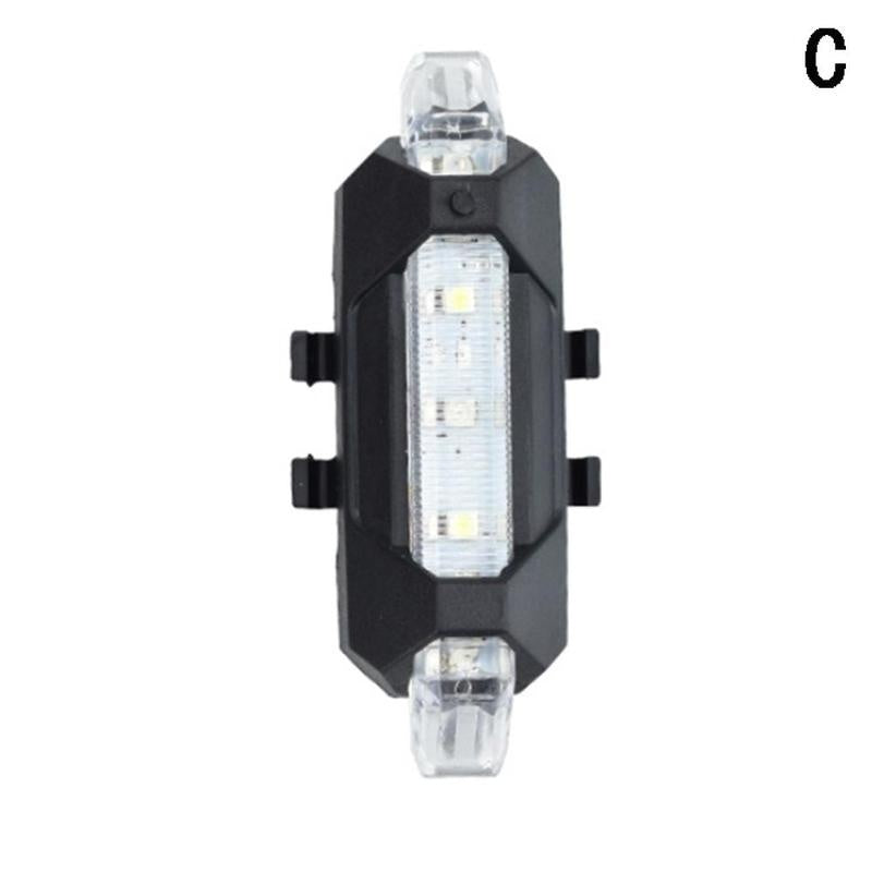 1X Rechargeable Warning Night LED Flashlight Lamp For Xiaomi Mijia M365 Electric Scooter Night Cycling