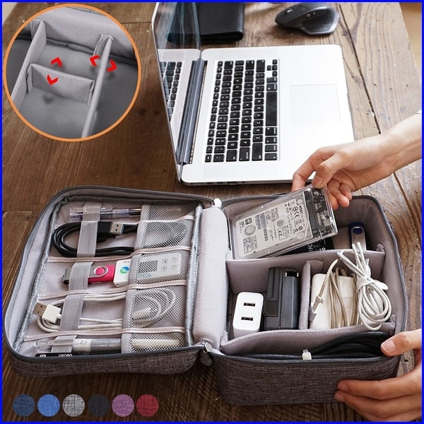 Travel Digital Storage Bag Portable Digital USB Cable Charger Earphone Cosmetic Pouch Storage Organizer Bag Case