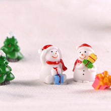 Load image into Gallery viewer, 3/4Pcs  Micro Landscape Bonsai Christmas Gift Mini Resin Snowman Figurine Craft Garden Decor Ornament