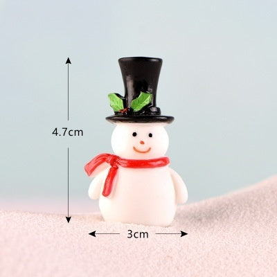 3/4Pcs  Micro Landscape Bonsai Christmas Gift Mini Resin Snowman Figurine Craft Garden Decor Ornament