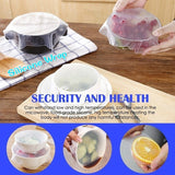4/8/12 pcs Silicone Strong Absorbability Plastic Fresh Food Wraps Seal Soft Material Silicone Wrap