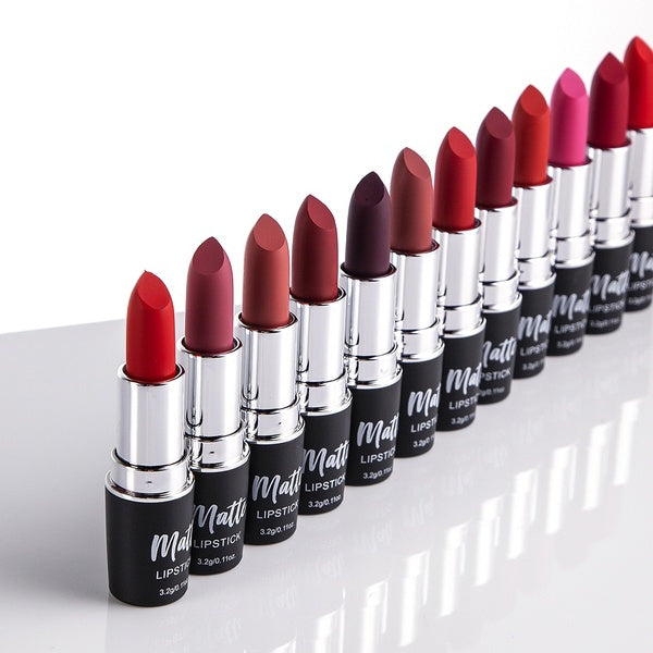 12 Colors PERALICE  Dumb Red Lipstick  Moisturize Naked Lipsticks  Easy To Wear Matte Bullet Makeup Lipstick Nude Lipstick Smooth