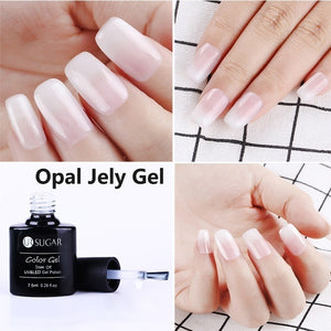UR SUGAR Jelly Pink Nail Gel Semi Permanent Opal Jelly Gel Soak Off UV Lamp Nail Art Gel Varnish