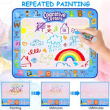 40 X 32 Inch Large Aqua Magic Doodle Mat Magic Water Drawing Doodling Mat Drawing Board Educational Toys Gifts for Kids Toddlers Boys Girls