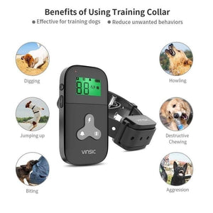 2 Color Newest Dog Training Collar Remote for Dogs Usb Rechargeable with 1-5 Level Beep, Vibration Control and Shock LCD Display No Barking