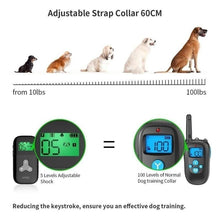 Load image into Gallery viewer, 2 Color Newest Dog Training Collar Remote for Dogs Usb Rechargeable with 1-5 Level Beep, Vibration Control and Shock LCD Display No Barking