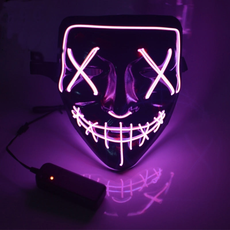 Halloween LED Light Mask Halloween Costume Supplies for Festival Masquerade Cosplay Party Performance