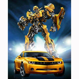 Diamond Painting Painted Transformers & Car Mosaic Embroidery Cross Stitch Embroidery Crafts Decor