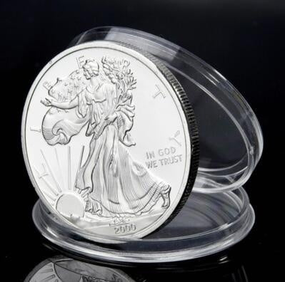 2020 2019 2018 2017 2000  2013 American Silver with Airtite Holder  Silver Dollar Brilliant Uncirculated(COPY)