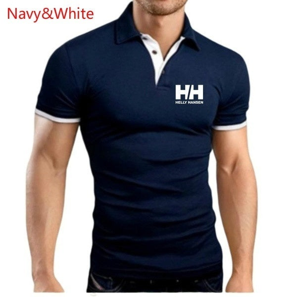 2019 New Fashion Men Summer Shirts Casual Tops Slim Fit Shirt Lapel Collar Slim Fit Polo T-Shirts