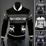 Christmas Sweaters for Man O Neck Casual Pullover Male Sweater Mens Knitwear  Slim Top Winter and Autumn Sweters