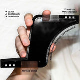Men Beard Shaping Styling Template Comb  Men's Beards Combs Beauty Tool Beard Shaper