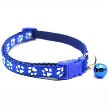 Load image into Gallery viewer, 12PCS/Set New Pattern Adjustable Dog Cat Bell Collars Pet Nylon Collar with Necklace Buckle