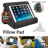 Multi-Angle Soft Pillow Pad Pillow Lap Stand for iPads, Tablets, eReaders, Smartphones, Books, & Magazines Support