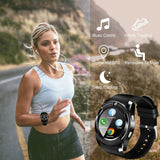 V8 Bluetooth Smart Watch Sports Fitness Tracker SD Card SIM Card Smartwatch Phone Pedometer Sleep Monitor