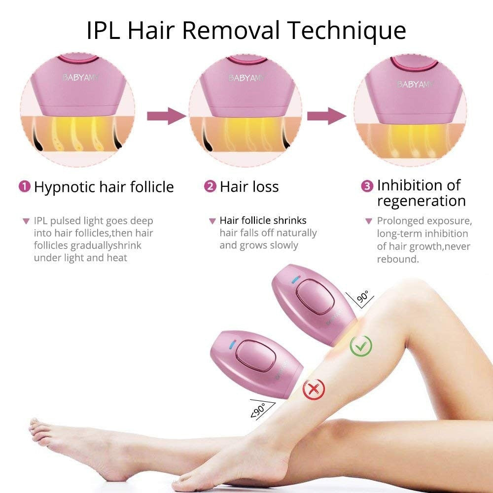 Mini Handheld Laser Epilator Depilador Facial Permanent Hair Removal Device Whole Body Laser Hair Remover Machine 500000 Flashes