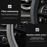 15 inch Universal Four Seasons Car Steering-Wheel Cover Breathable Anti-Slip Sport Steering Wheel Handlebar Case Steering Wheel Protector Car Styling Cars Accessories