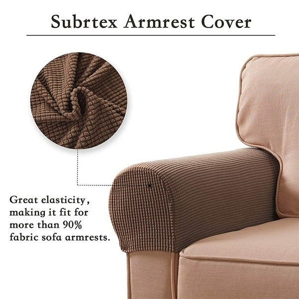 New 11-color Elastic Sofa Armrest Cover Washable Retractable Sofa Armrest Protection Parts Set Sliding Sleeve Pair