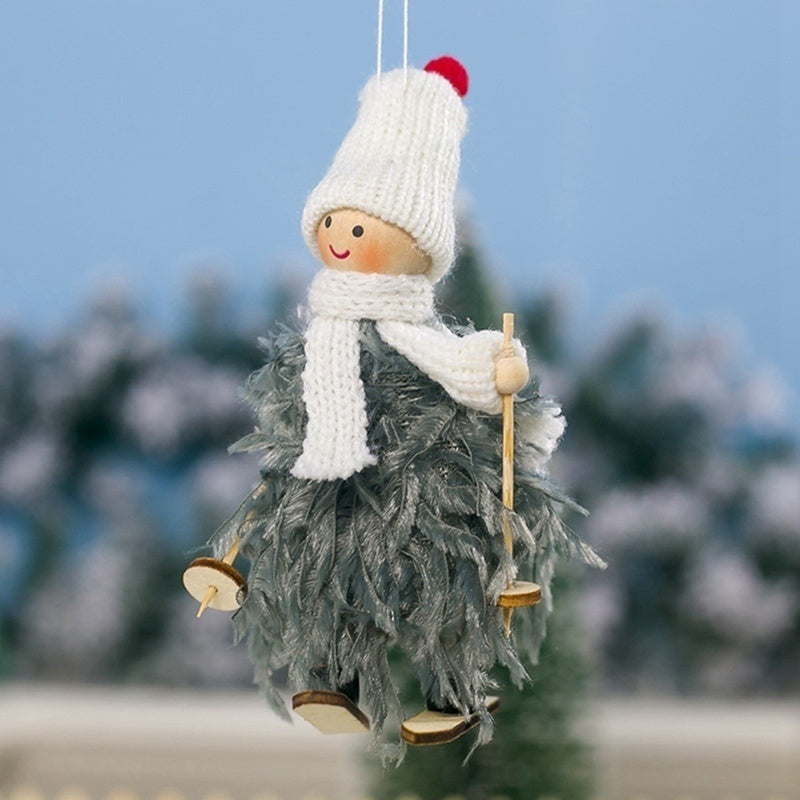 Creative Christmas Angel Plush Doll Toy Christmas Tree Pendants Ornaments Home Decoration