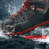 Men's new fashion waterproof walking shoes outdoor boots hiking boots non-slip hiking shoes camping shoes