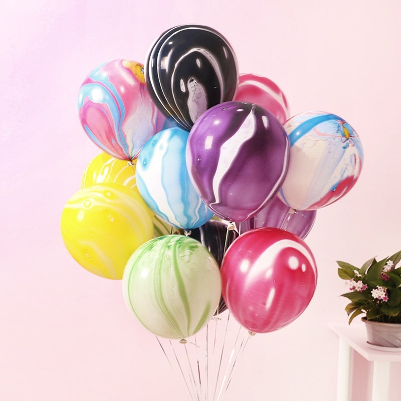 5pcs 12 inch Painting Balloons Colorful Cloud Balloon Birthday Party Decoration