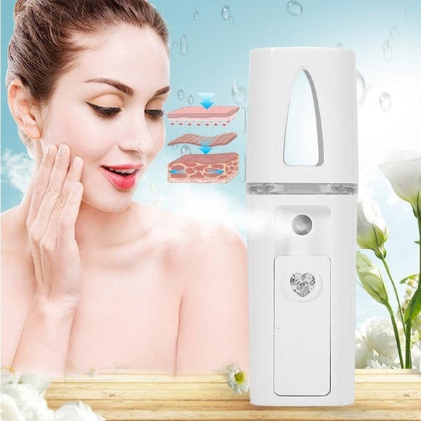 USB Charging Travel Nebulizer Beauty Instruments Hydrating Instrument Steaming Face Handy Moisturizing Face Sprayer Beauty Tool Nano Sprayer Nano Facial Mist