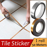 50 Meters Wall Floor Seam Removable Gold Foil Waterproof Self-adhesive Ground Tile Sticker