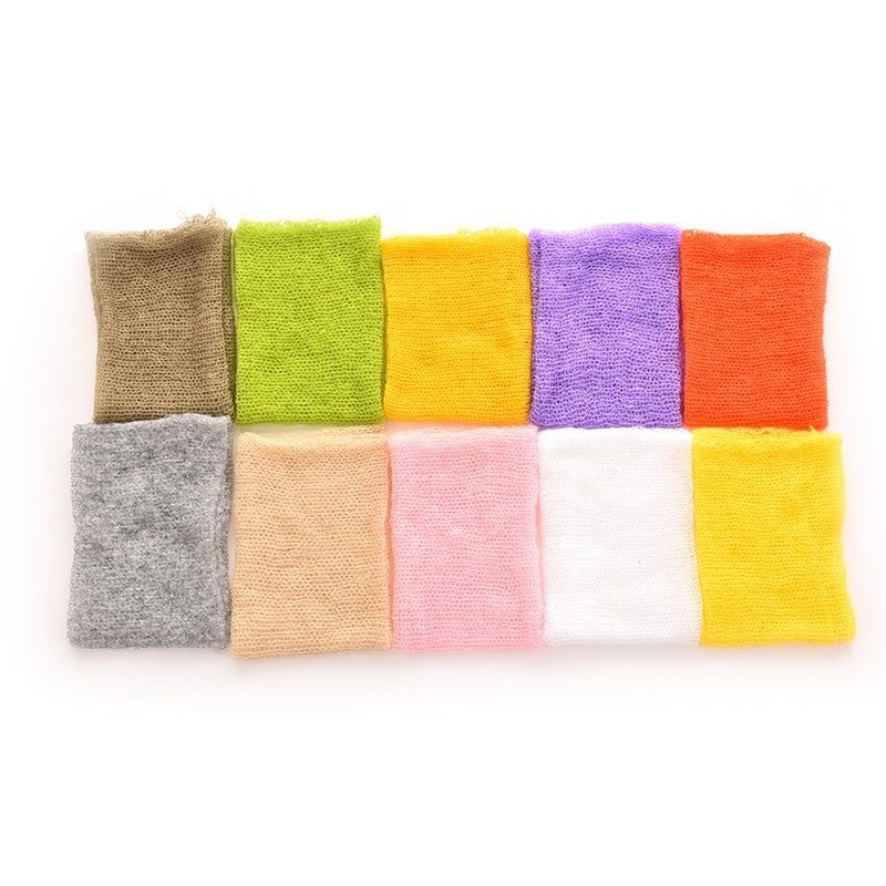 1X Newborn Baby Mohair Crochet Knit Wrap Cloth Photography Props Baby Photo Props