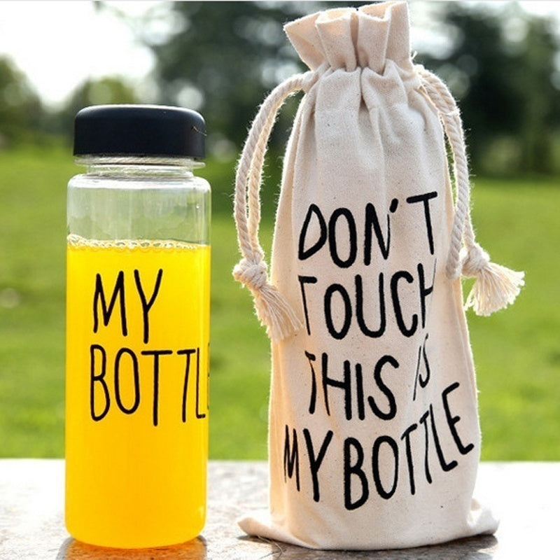 Popular Hipster Sport Fruit Juice Water Cup Portable Pouch New Shopping Carnival 500ML Travel Bottle Bag  My Bottle Jute Bag