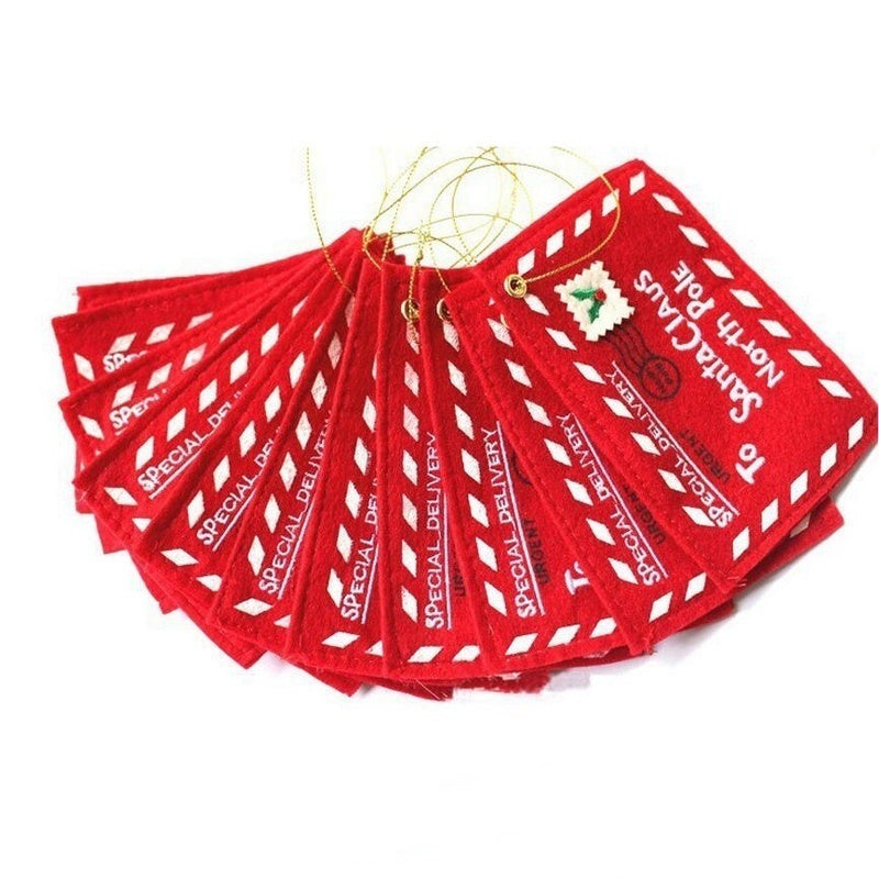 6Pcs Merry Christmas Red Envelope Christmas Tree Decoration Greeting Cards Candy Bag For Children Kid Gifts Home Decor