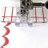 Clear Plastic Parallel Stitch Foot Presser For Brother Domestic Sewing Machine