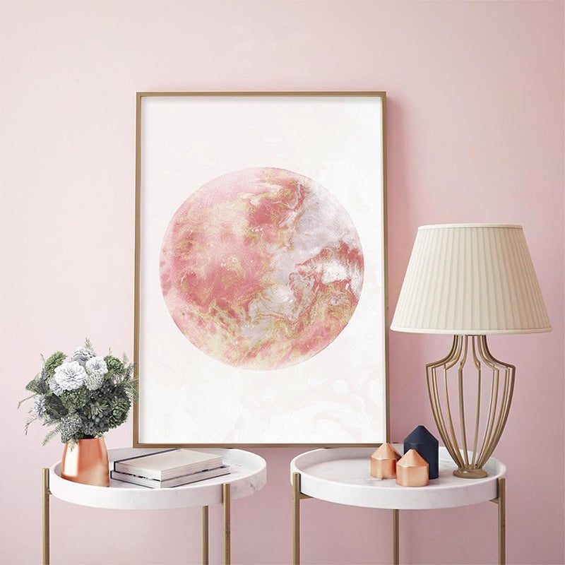 Moon Phase Art Canvas Painting Rose Gold Print Large Gallery Modern Wall Art Bedroom Wall Posters Decor Decoration Pictures