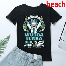 Load image into Gallery viewer, Rick and Morty shirt,XS-3XL Fashion Women Men Short Sleeve T Shirt Tops Tiny Rick Space T-Shirt Rick & Morty Tshirt For Friends Couple