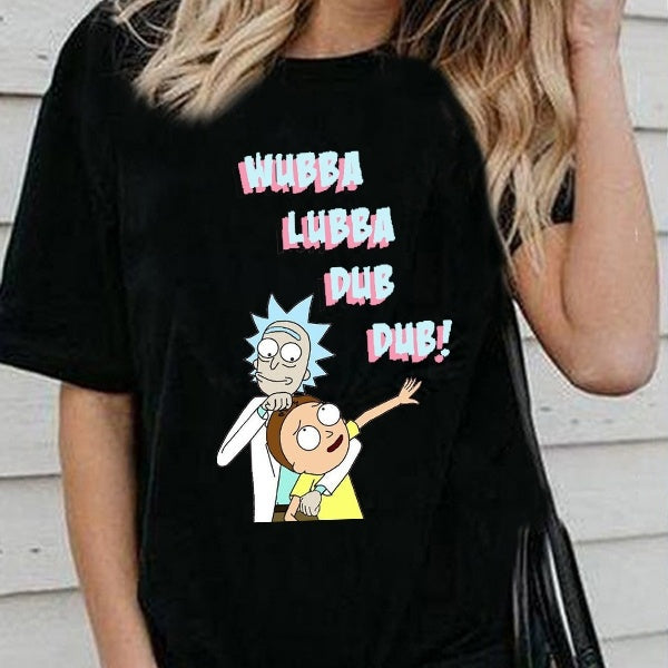 Rick and Morty shirt,XS-3XL Fashion Women Men Short Sleeve T Shirt Tops Tiny Rick Space T-Shirt Rick & Morty Tshirt For Friends Couple