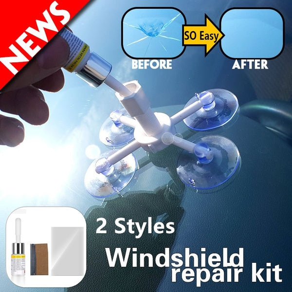 Car Window Glass Crack Chip Resin Windscreen Windshield Repair DIY Tool Kit Set