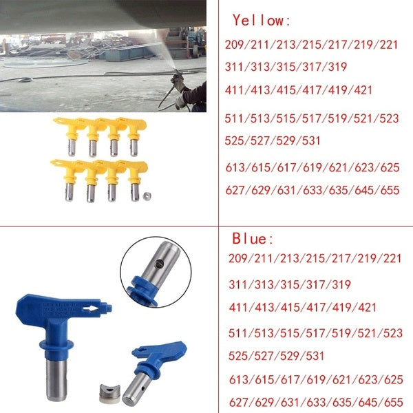 2/3/4/5/6 Series Airless Spray Tip Nozzle Airless Sprayer for Commercial Buildings Spray
