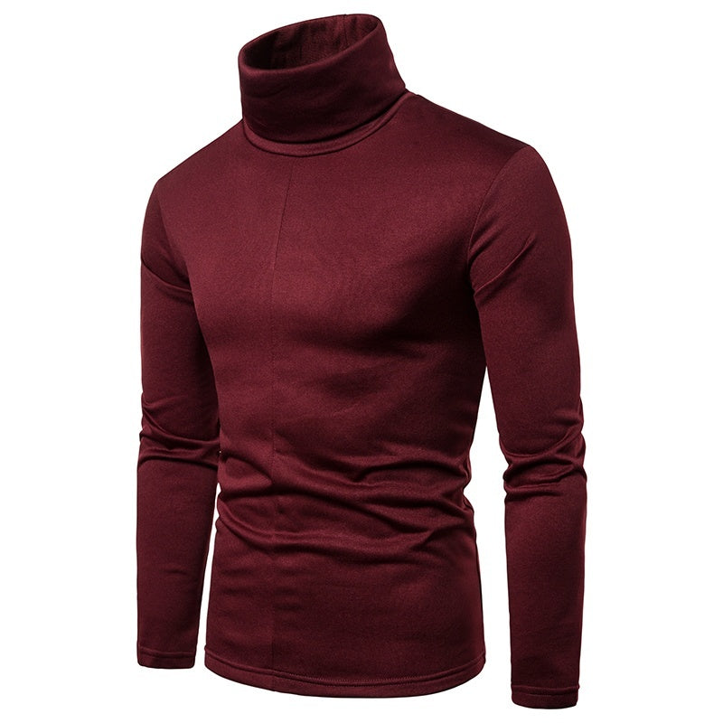 New Men's Winter Warm Cotton High Neck Pullover Jumper Sweater Tops Mens Turtleneck Sweater