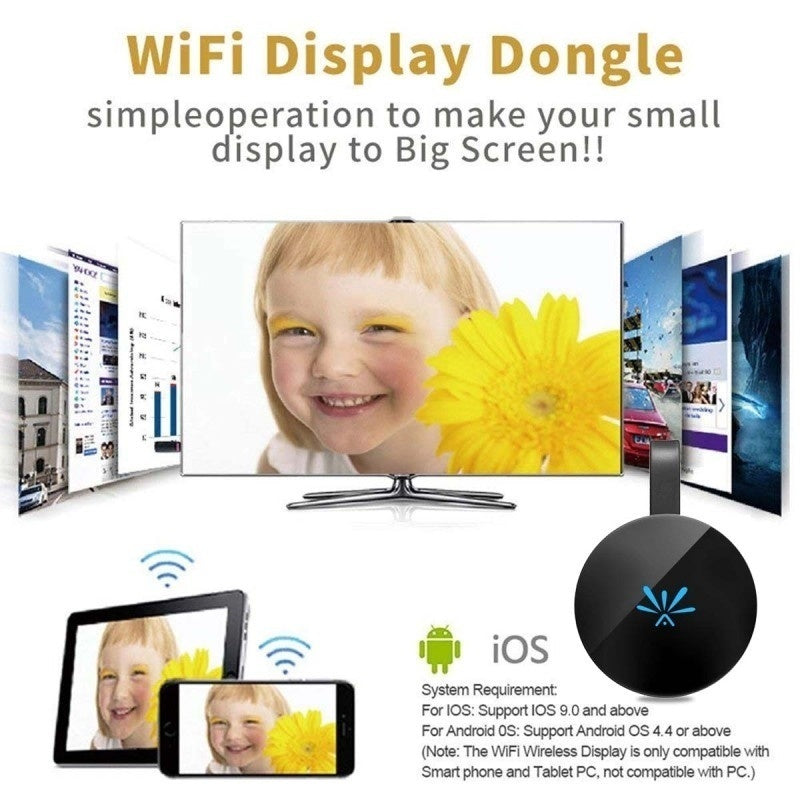 2.4G Display Dongle G6 for Chromecast 2 Netflix Google YouTube Crome Chrome Cast NEW