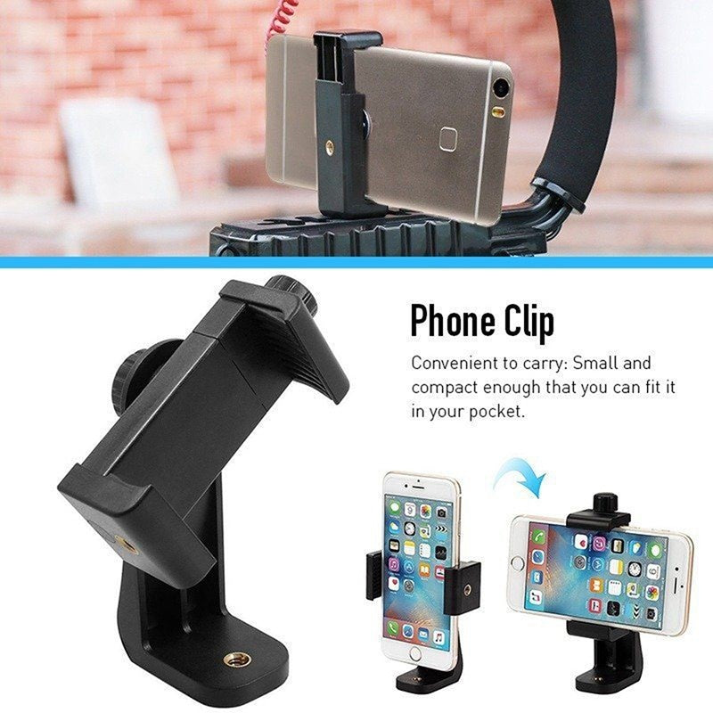 Universal Smartphone Tripod Adapter Cell Phone Holder Mount For iPhone Camera