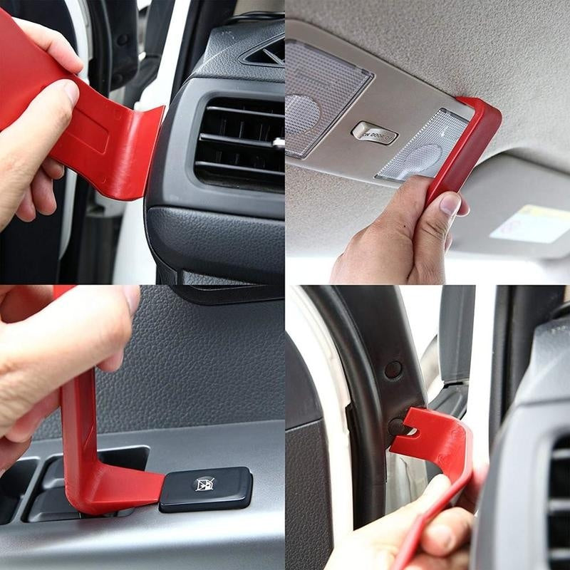 13Pcs Universal Car Trim Repair Panel Remover Pry Bar Tool Kit Car Door Clip Dash Panel Radio Maintenance Removal Hand Tools Set