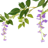 Artificial Fake Wisteria Vine Rattan Hanging Garland Silk Flowers String Home Garden Office Wedding Wall Decor