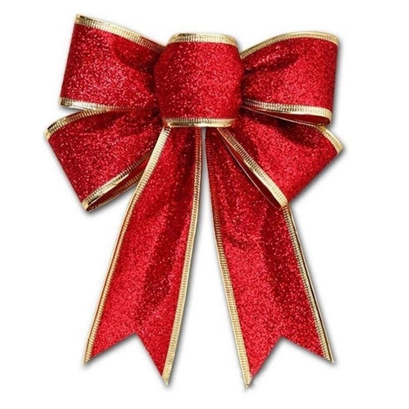 5 Colors Bows Bowknot Christmas Tree Party Gift Present Xmas Decorations DIY