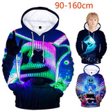 High Quality Kids 3D Marshmello Printed Kids Hoodies Boys and Girls Pullovers Tops