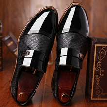 Load image into Gallery viewer, Fashion Men Flat Business Oxfords Shoes Male Wedding Dress Shoes Comfortable Pointed Toe Slip On Shoes Chaussures En Cuir Pour Homme Plus Size 38-48 Luxury Leather Shoes
