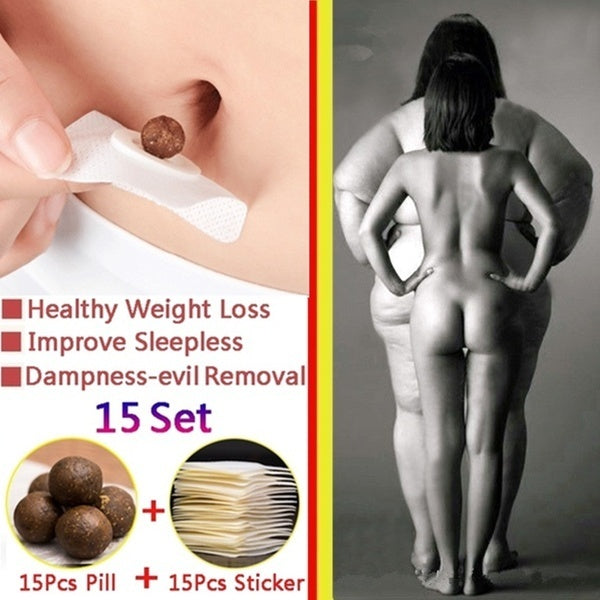 15sets /30sets/45 sets/60sets/ Healthy Weight Loss Navel Stick Quick Slim Patch Pads Detox Adhesive Sheet Weight Loss Burning Fat Patch Popular Fitness
