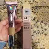 Face Concealer It Cosmetics CC+ Cream Illumination SPF 50 Full Cover Medium or Light Hide Blemish It Skin Corrector Makeup