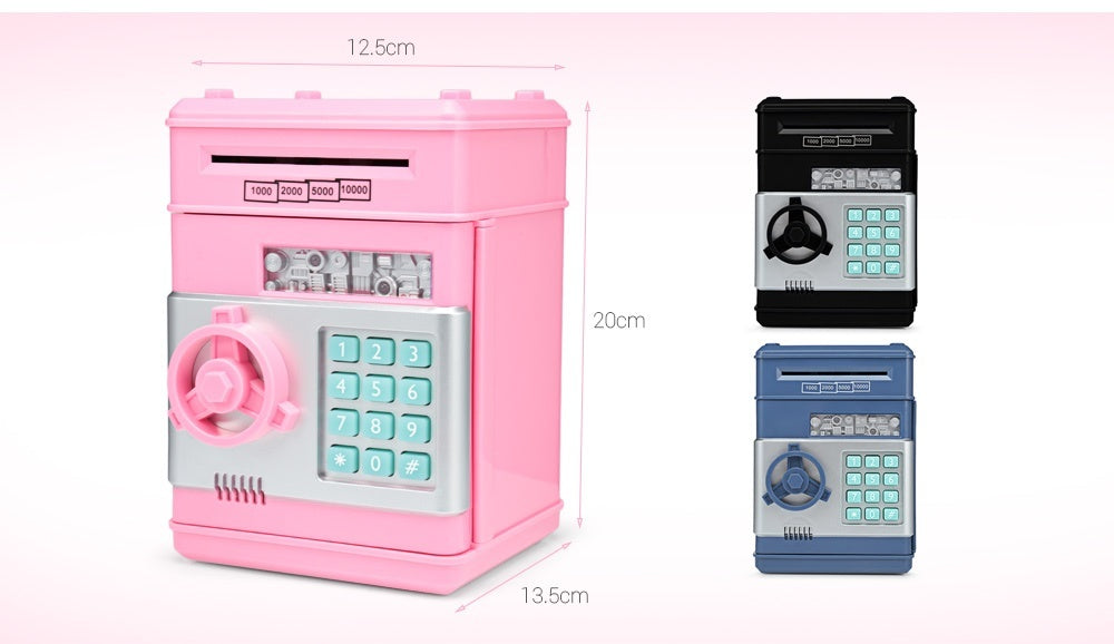 Saving Bank ATM Money Box Electronic Password Chewing Coin Cash Deposit Machine