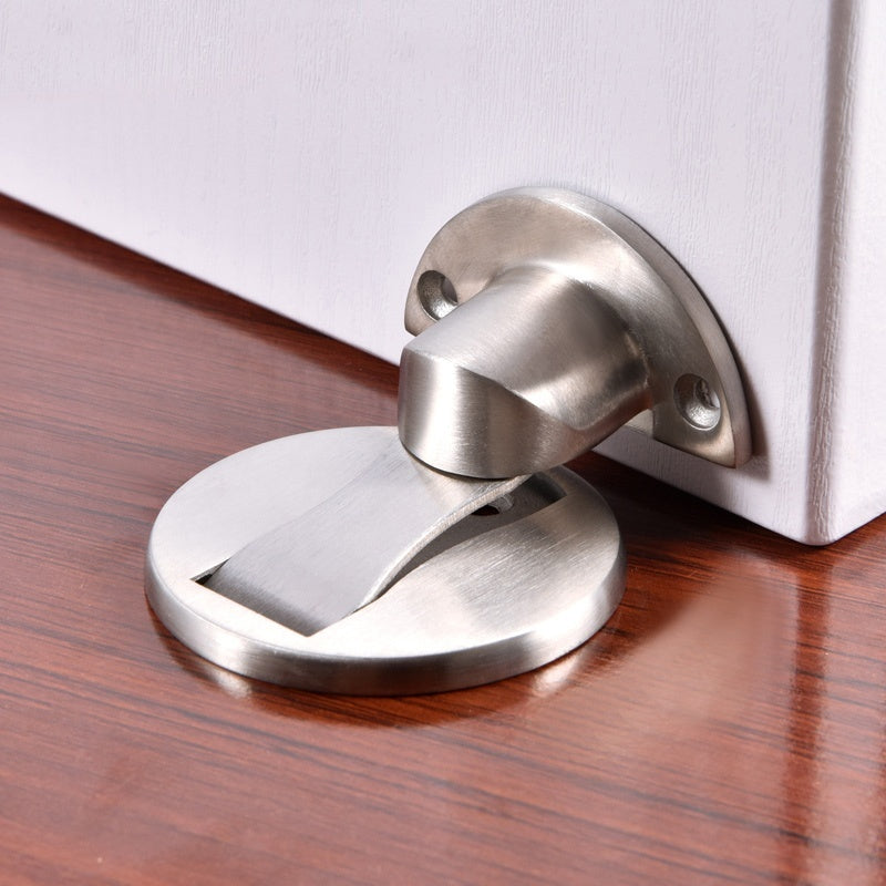 1PC Stainless Steel Magnetic Door Suction Device Door Stops Invisible Anti-collision Punch Door Stopper